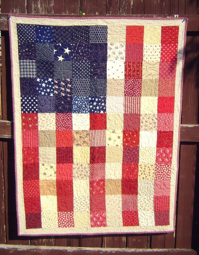 American Flag Quilt Tutorial Favequilts Com