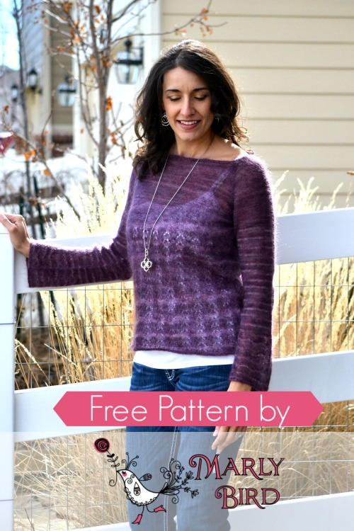 Blackberry Boatneck Sweater