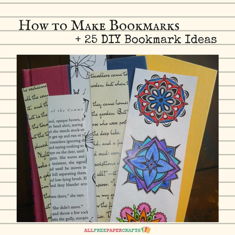How To Make A Bookmark : How to make bookmarks diy bookmark ideas