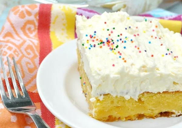 Pineapple Fluff Cake with Orange Essential Oil