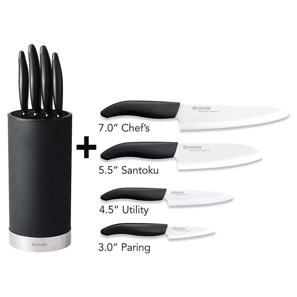 Kyocera 5 Piece Universal Knife Block Set Cookstr Com