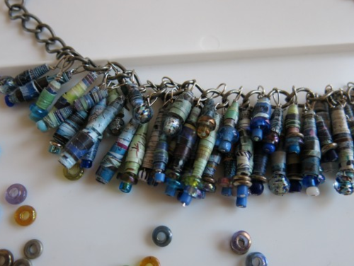 Recycled DIY Paper Necklace