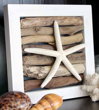 Nautical Starfish Driftwood Art