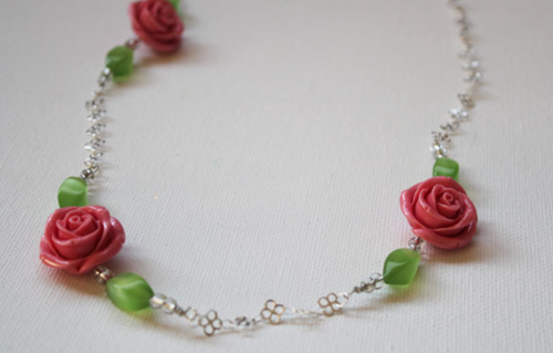 Beaded Rose DIY Necklace