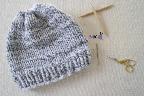 Knitting Hat Patterns For Beginners : Easy knit hat for beginners allfreeknitting