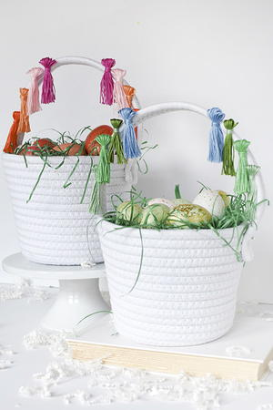 DIY Tassel Easter Basket