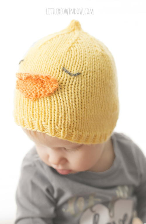 Little Chick Hat Knitting Pattern
