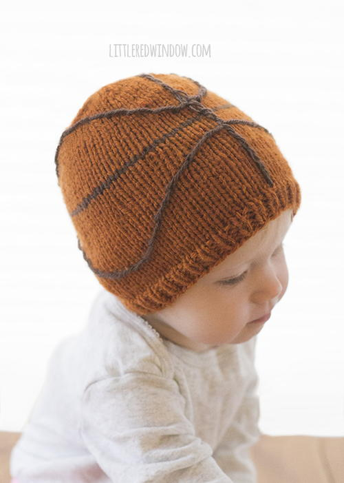 Basketball Hat Knitting Pattern