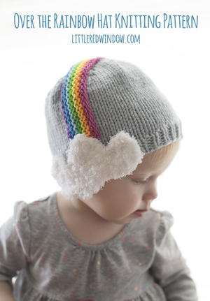 Over the Rainbow Hat Knitting Pattern