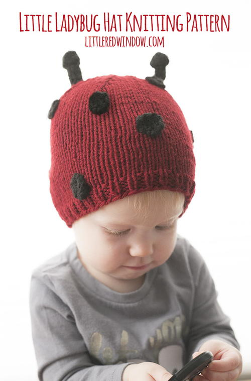 Little Ladybug Hat Knitting Pattern