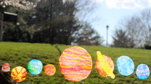 Extraterrestrial Coffee Filter Planet Suncatchers