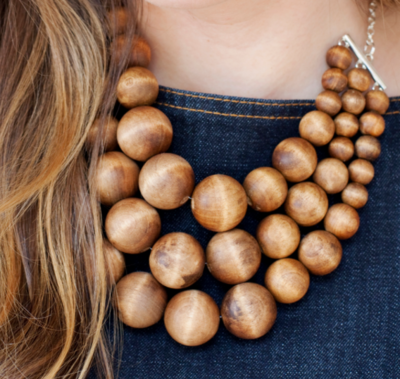 Chunky Wooden DIY Statement Necklace