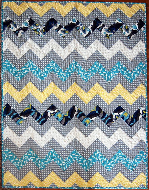 Zig Zag Chevron Throw Quilt
