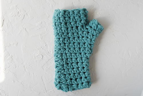 Crochet Fingerless Mittens Pattern