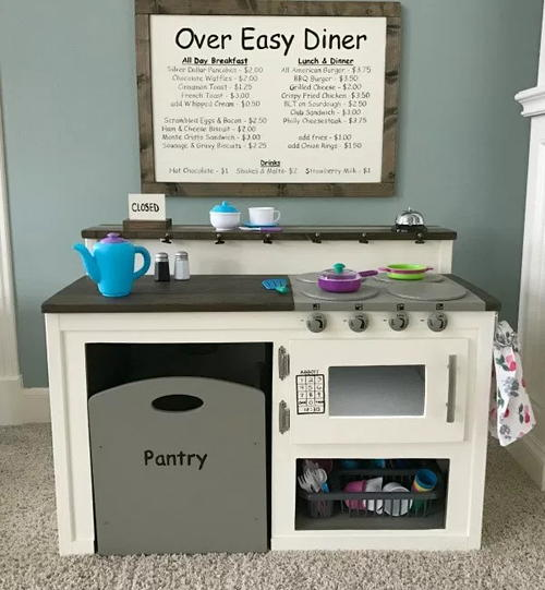 Farmhouse Style DIY Play Kitchen