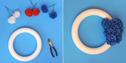 How To Make A Red, White & Blue Wreath