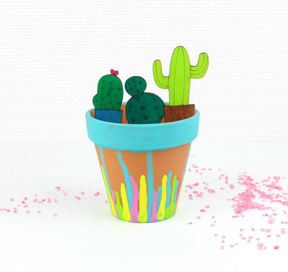 Wooden cactus planter for Wooden cactus planter