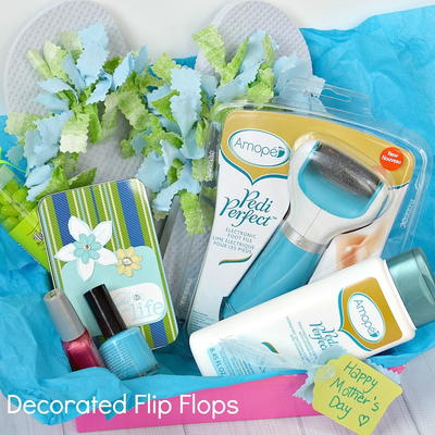 Pampering Mother's Day Gift with Decorated Flip Flops