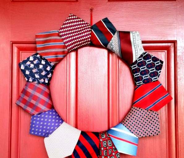 Patriotic Necktie DIY Wreath