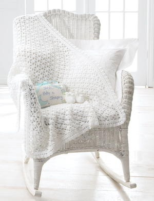 Elegant and Easy Crochet Baby Blanket and Booties