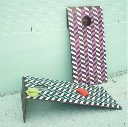 Patterned DIY Cornhole Boards