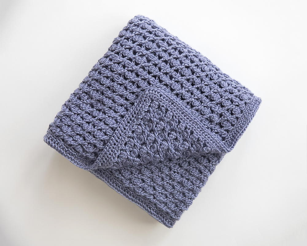 Springtime Heirloom Baby Blanket