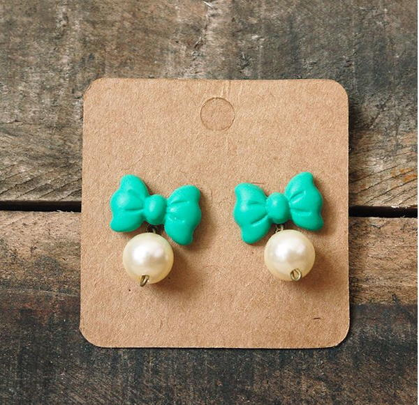 Bow and Pearls Earrings
