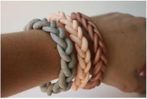 Braided Clay Bangles
