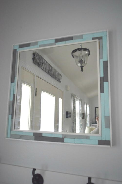 Upcycled DIY Wood Mirror Frame