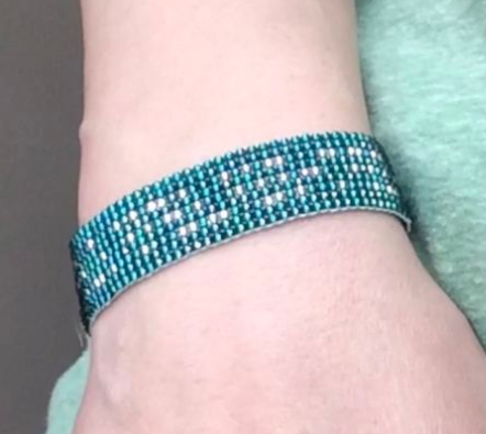 Morse Code DIY Beaded Loom Bracelet