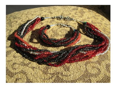 How to Make a Multi Strand Seed Bead Necklace
