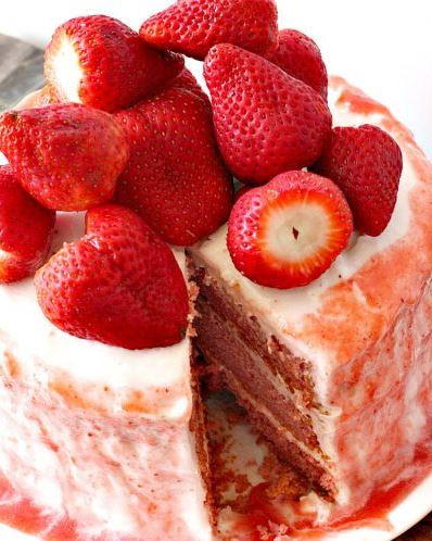 Decadent Southern Strawberry Cake