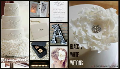 Wedding Color Combinations: Black and White