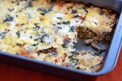Sausage and Egg Casserole with Sun-Dried Tomatoes