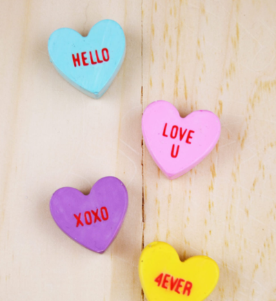 Adorable DIY Conversational Heart Magnets