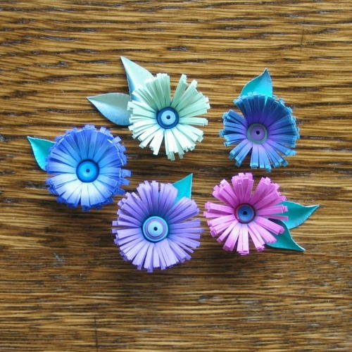 Quilled Fringe Paper Flowers
