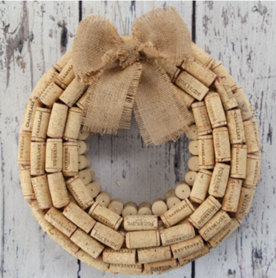 Fine Vintage Wine Cork Wreath
