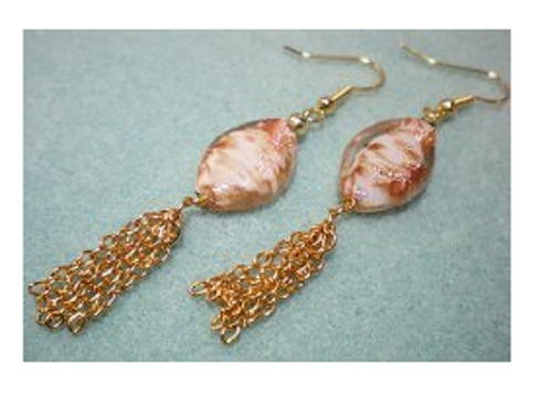 Pretty Bead and Chain Tassel Earrings