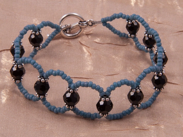 Beaded DIY Lattice Bracelet