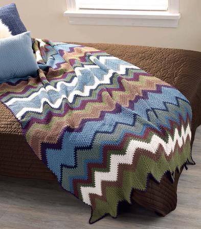 Blanket Crochet Chevron