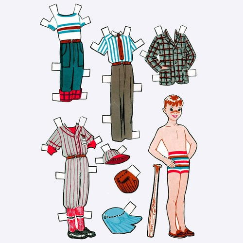 Growing Up Vintage Paper Dolls
