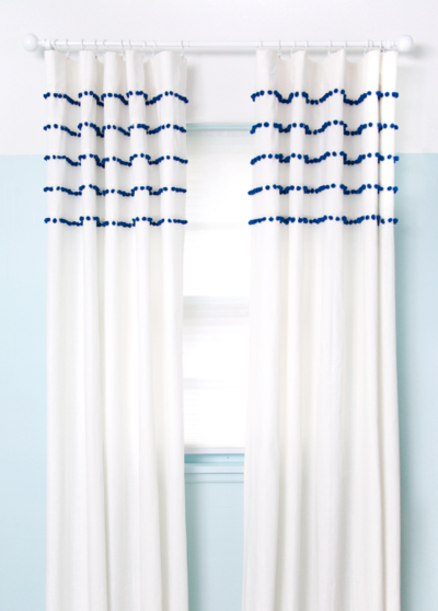 Poppin Pleated Pom Pom Curtains