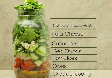 How to Make Greek Salad in a Jar