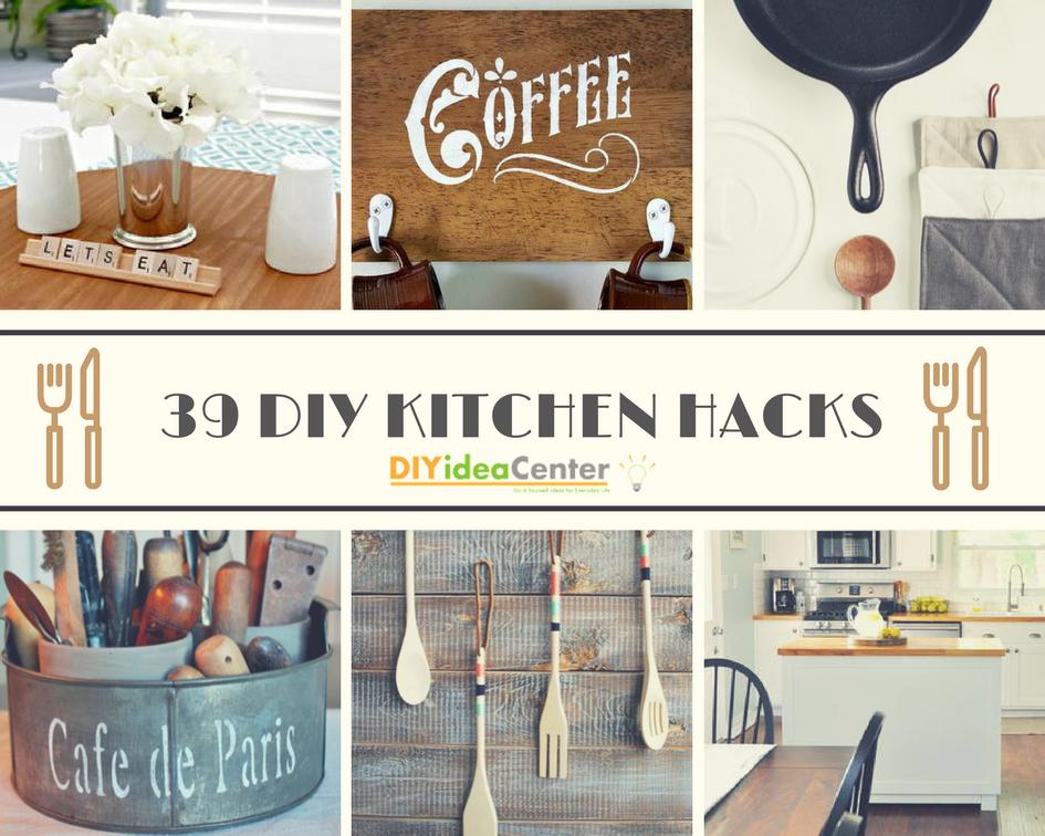 39 DIY Kitchen Hacks DIYIdeaCenter.com - The Kynochs Kitchen