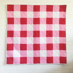 Vintage Gingham Baby Quilt
