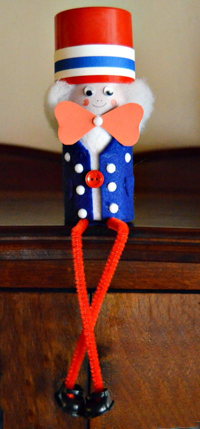 Uncle Sam Toilet Roll Craft