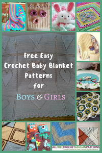 34 Free Easy Crochet Baby Blanket Patterns for Boys & Girls