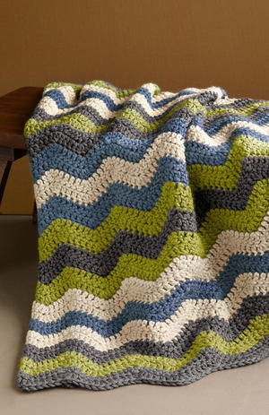 Manly Ripple Afghan