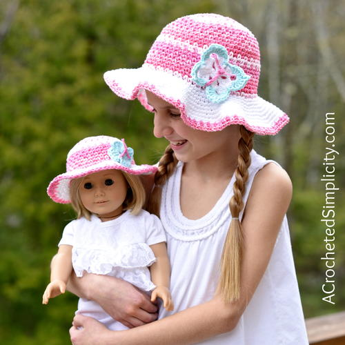 Kids Linen Stitch Sunhat