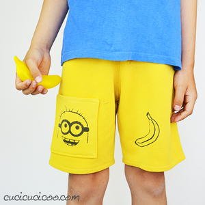 Old Pants into New Shorts for Kids